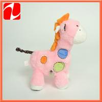 2014 lovely educational plush talking giraffe,  plush music  animal, plush animal toy