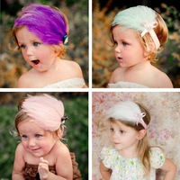 #3003 Baby Hair Band Wholesale Hair Ribbon Feather Infant Children Headband Baby Hair Accessory Free Shipping