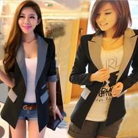 2013 Fashon Women's blazer Tunic Foldable Brand Jacket women suit vintage blazer one button shawl cardigan jackets NZS027