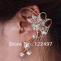 New exaggerated punk cuff earring crystal clip earrings for women ear loop ear jewelry