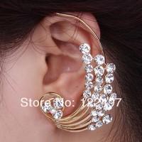 Fashion New style punk cuff earrings crystal Resin clip earrings for women ear loop wholesale