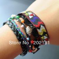 Free Shipping 3pcs/lot  2013 new Magnetic Hipanema Bracelet brazilian bracelet hipanema style bracelet Colorful
