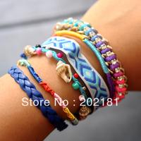 Free Shipping mixed color and style 2013 new brazilian bracelet hipanema style bracelet Colorful Magnetic Hipanema Bracelet