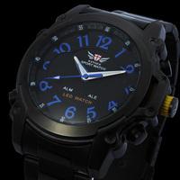 2014 watch men luxury sports watches military watches date dual analog alarm digital wristwatch+box reloj deportivo relogios