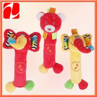 2014  lovely plush educational animal, plush sounding toy, plush animal toy for babies