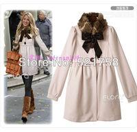 2013 Hot!!!Free shipping!Fashion  personality Sweet fur collar coat jacket