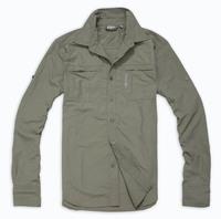 Outdoor sunscreen moisture wicking Men quick dry clothing long-sleeve shirt quick-drying pants quick-drying set KC016