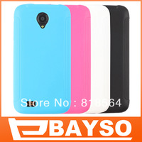 50pcs/lot, DHL free shipping high quality TPU soft candy color case cover, 4 colors style for Lenovo S750, good protection