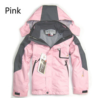 Spring 2014 Boy Girl Camping & Hiking jacket Children snowboard Waterproof windproof breathable 2in1 Skiing Jackets In stock