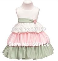 New  2014 Child Dress Baby Girl Dress Princess Kids Evening Dress Wedding Party Cake Dress Flower Girl Dress Free shipping