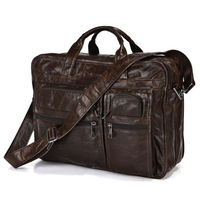 Brand High Quality  Oil LeatherHandbags BriefcaseLaptop Messenger Men's Shoulder Bag