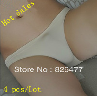 2013 NEW 4 pcs/ Lot Low waist sexy mens Underwear men triangle Panties seamless spandex elastic men's sexy underwear for men