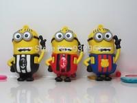 New cartoon Minions football toy 8GB USB 2.0 flash drive Memory Stick U Disk  pen  Drive free shiping
