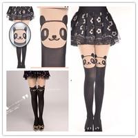 Sexy bear Thigh high Stockings  pantyhose  patchwork mock Bear  Cartoon sheer Tights Thin Nylon womens  Free shipping