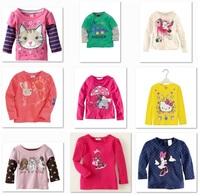 Jumping Beans Retail Girls Tshirts Girl's Clothes Jersey Kids T Shirt Tops Boys Long Sleeve T-shirt Children's Tee Shirts M1743