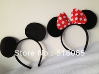 Mix 2 styles Lovely Minnie ears Hair accessories ,girl Hard hair bands for Mickey mouse birthday party,mickey mouse headband