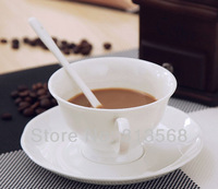 250ml Chinese Tangshan bone china coffee cup / mug, white bone china coffee cup for your elegant tea time