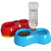 Free Shipping High Quality Dual Port Dog Utensils Bowl Cat Drinking Fountain Food Dish Pet Bowl Automatic Water Dispenser Feeder
