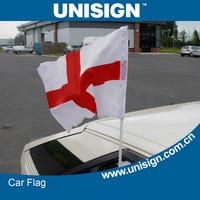 hot selling customized car flag, window clip-on car flag, 20x30cm car flag for sale 20pieces per lot