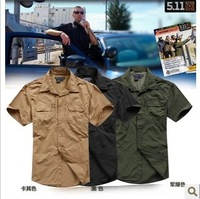 Free shipping 511 fast drying shirts Outdoor men's short sleeve shirt Tactical military shirt Breathable half sleeve blouse