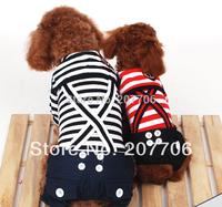 Strip Pet Dog Soft Suit with Pant, Pet Dog Clothes