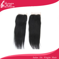 Queen hair ! 10pcs100% Brazilian virgin staright lace top closure 4 x4 swiss lace closure bleached knots closure free shipping