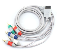 White Component HD HDTV AV Adapter Cable Audio Video 5 RCA For Nintendo Wii  Free Shipping Wholesale