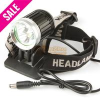3 x CREE XML T6 LED 2400 Lumen Waterproof LED Headlight Headlamp + Bicycle Light Bike Lamp 4 Mode for Cycling Fishing