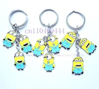 Wholesale New 60pcs  Despicable Me  Key Chains Key Ring Accessories Car Key Free Shipping