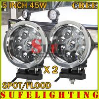 45W LED Work Light Super Spot Offroad Light 10-30V WORK LAMP for TRUCK ATV SUV IP67 LED Drive Light External Light Save on 60w