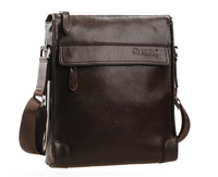 2014 New Fashion Business Style 100% Genuine Cowhide Leather Men's Messenger Bag Crossbody Top quality