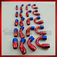 20PCS AN10 Aluminum Swivel AN Fitting Straight + 45 + 90 + 180 Degree Reusable Oil Hose Fitting End