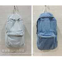 FREE SHIPPING American apparel fashion Light Blue denim backpack & Blue shool bag & Black backpack both for men/male and women