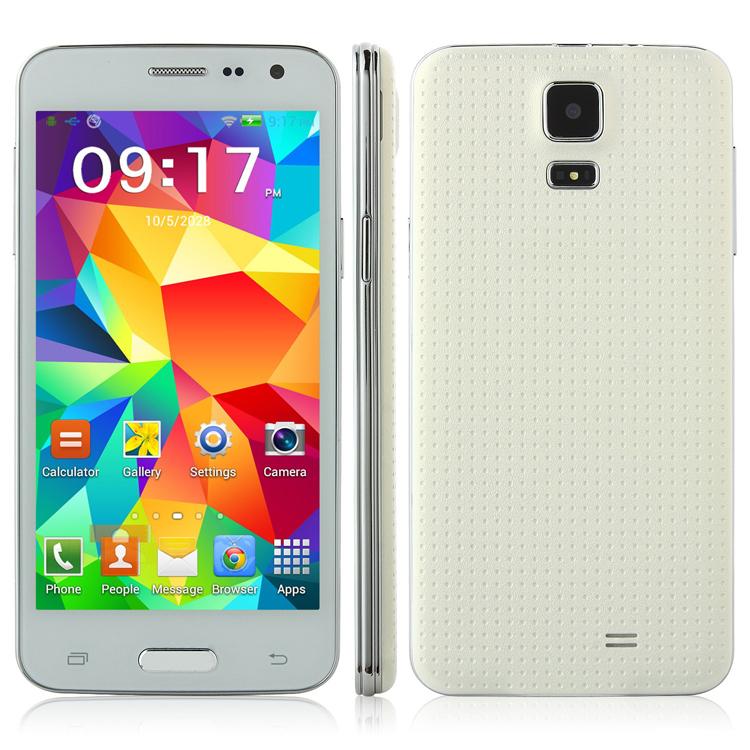 Mini mixc s5 androide teléfono smartphone 4.5 pulgadas de pantalla mtk6572 1.3 ghz de doble núcleo wifi bluetooth teléfono celular gsm de envío gratis