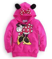 Girl's Minnie Hoodies Long Sleeve Sweatshirts Casual Cartoon Girls Coat Outerwear New Spring 2015 Free Shipping