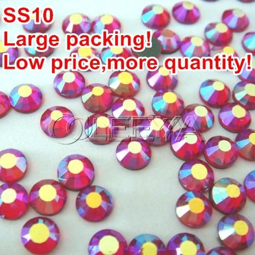 Стразы для одежды Oleeya AB 500gross/ss10 DMCHotFix FlatBackTransferfix WeddingDIY gliters crystalstone Y0387 заклепочник усиленный gross 40409