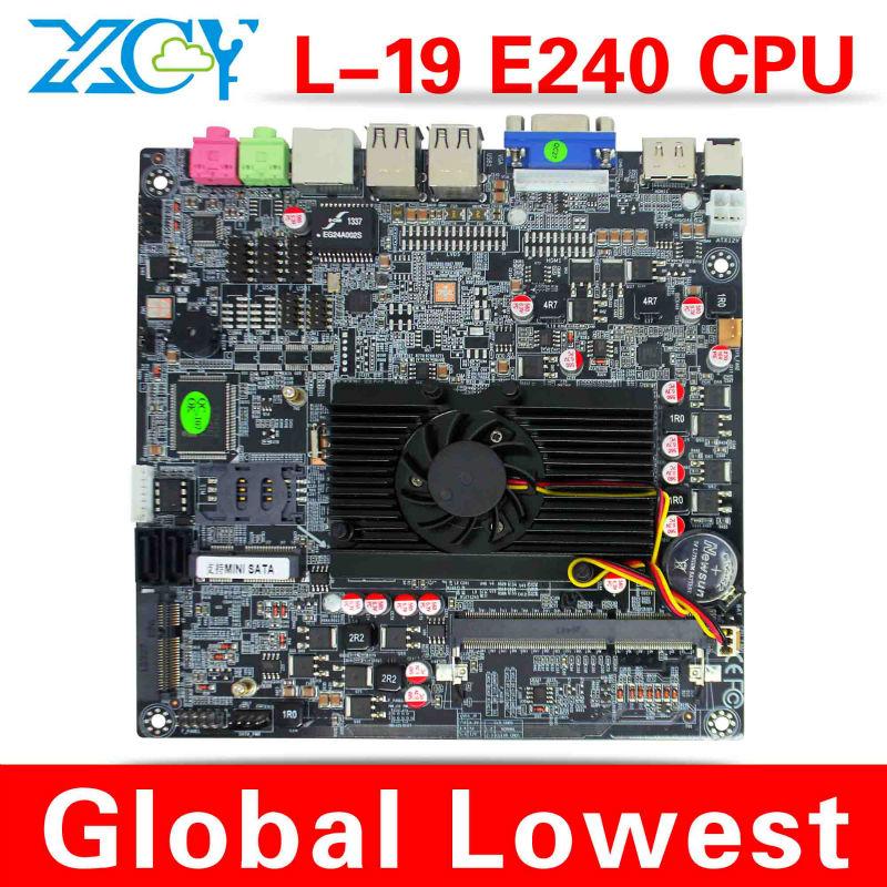 XCY L-19 AMD E240 mother board, AMD E240 micro atx mainboard, Micro motherboard mini itx(China (Mainland))