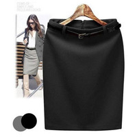 2013 New Fashion Womens' Business Suit Pencil Skirt Elegant Wool Vocational OL Skirts With Free Belt Cotton  WD1010