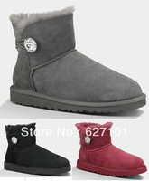 Free Shipping U-Brand Womens Bailey Button Bling Boots 51003889 Womens Australia Sheepskin Snow Boots, Winter Boots Size US5-10
