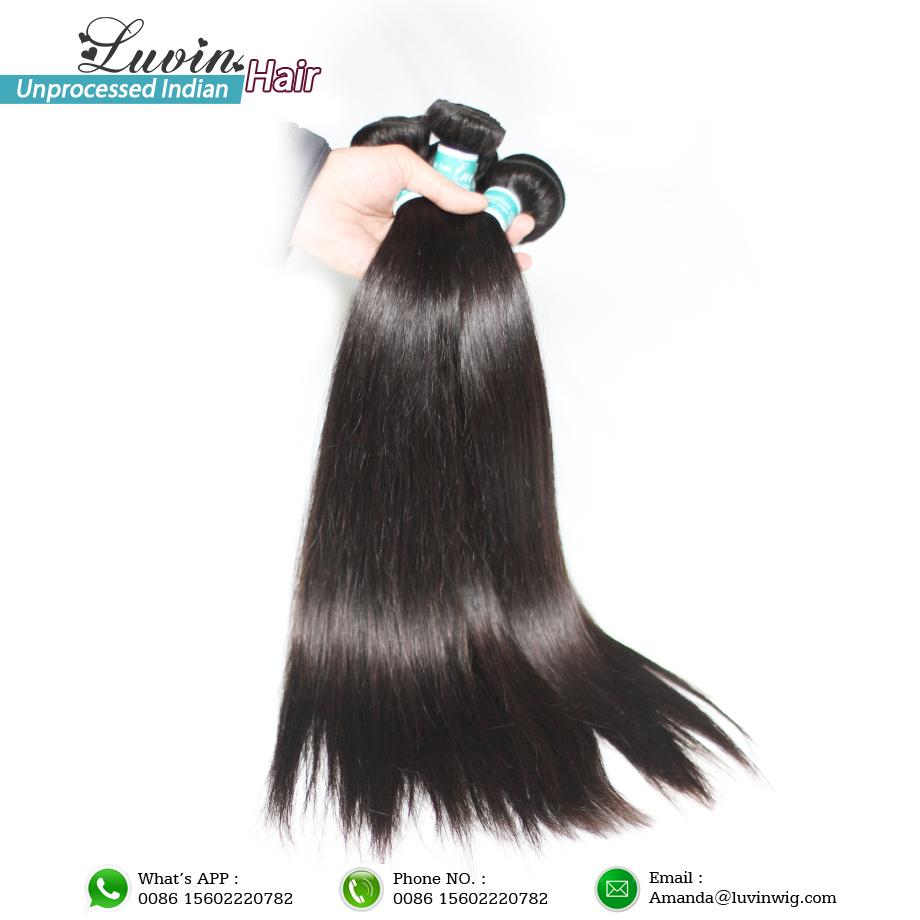 Indian Remy Hair Straight 4Pcs/Lot Human Hair Extensions Shipping Free(China (Mainland))