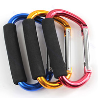 Free Shipping Aluminum D-shaped Carabiner Hook Stroller Hanger Accessory Bag Holder Hiking