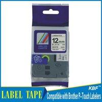 Cheap China 12mm black on white tz label tape tz-231