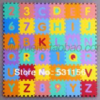 36pcs/set Alphabet game puzzle mats baby crawling mat eco-friendly cartoon patchwork floor mats digital 15x15cm Middlebury foam