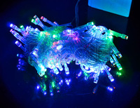 Christmas LED String Fairy Light 10M 100LEDs Festival Decoration Light Outdoor Lighting Free Shipping 30pcs/lot