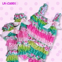 Free Shipping Pastel Pink and Green Zig Zag Lace Petti Romper,Leg Warmers Set for Baby Girls,Toddlers,Easter Romper