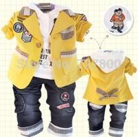 boys spring-autumn clothing sets 3pcs infant blazer clothes sets kids apparel children coat kids suit set boy