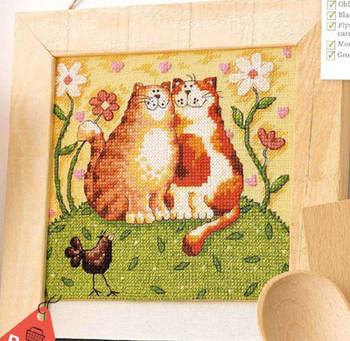 Рукоделие сделай сам вышивка крестом комплект для комплект для вышивания нет печатные кошки любителей счетный крест