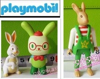 Playmobil Free shipping set of 3 Rabbit Playmobil  building blocks parts to assemble toys for kids figures