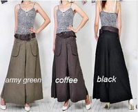 Brand new wholesale 10PCS Fashion Women Larger Size S--8XLTHIN or THICK Wide Leg Casual Skirt Pants Trousers Comfortable