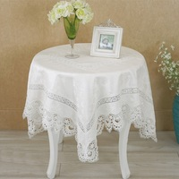High Quality Free Shipping Hot Sale 85*85cm Elegant 100% Polyester Lace Tablecloth Peacock Wedding Table linen Cloth Covers